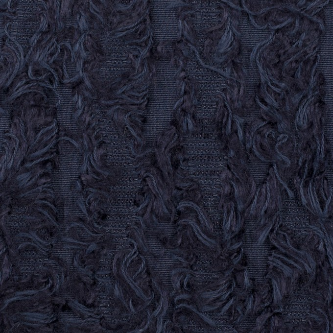 ポリエステル&レーヨン混×ストライプ(プルシアンブルー)×ジャガード イメージ1