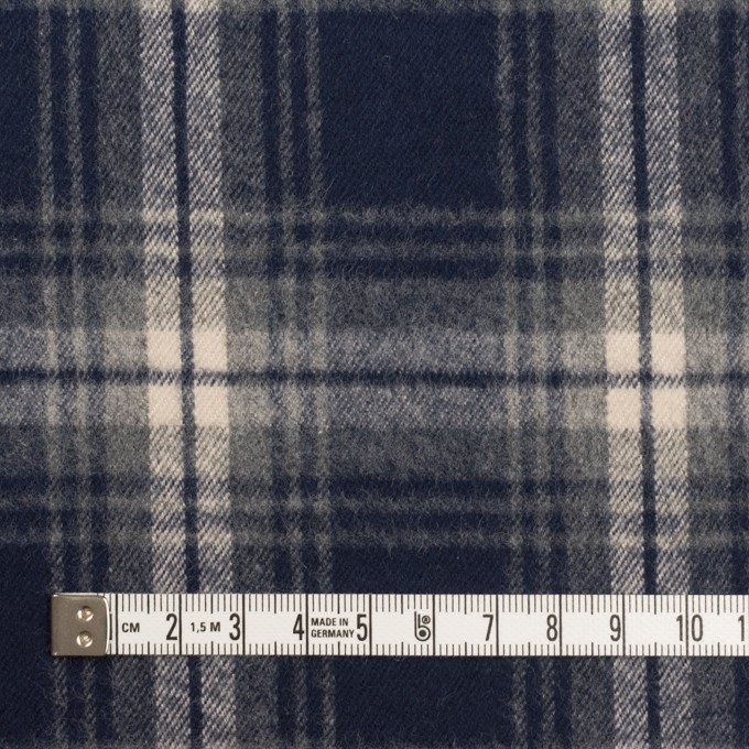 コットン×チェック(ネイビー)×フランネル イメージ4