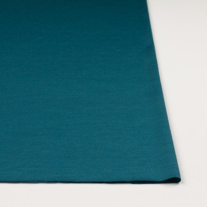 ウール×無地(ターコイズブルー)×天竺ニット イメージ3