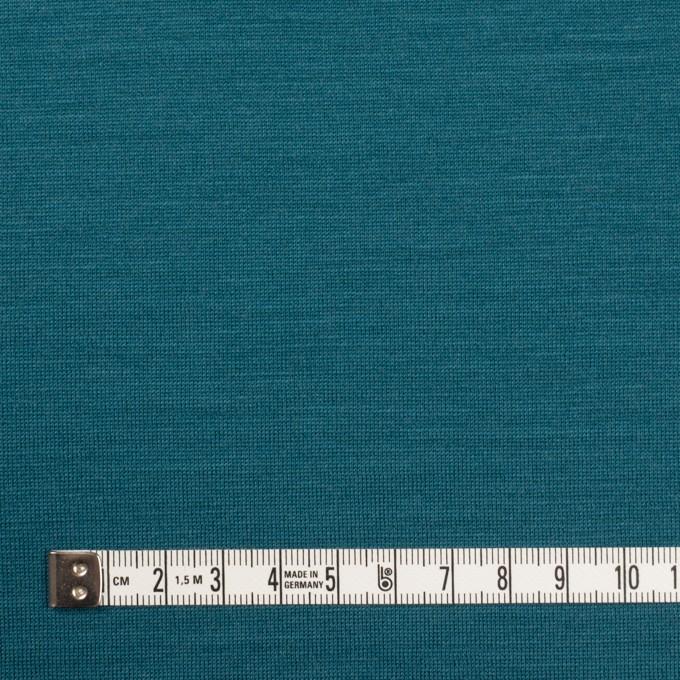ウール×無地(ターコイズブルー)×天竺ニット イメージ4