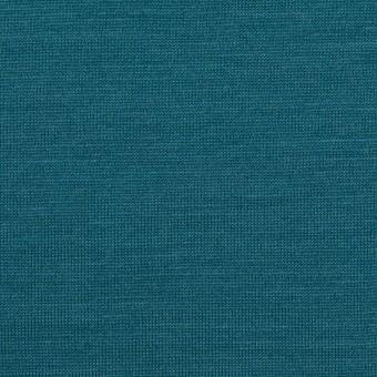 ウール×無地(ターコイズブルー)×天竺ニット