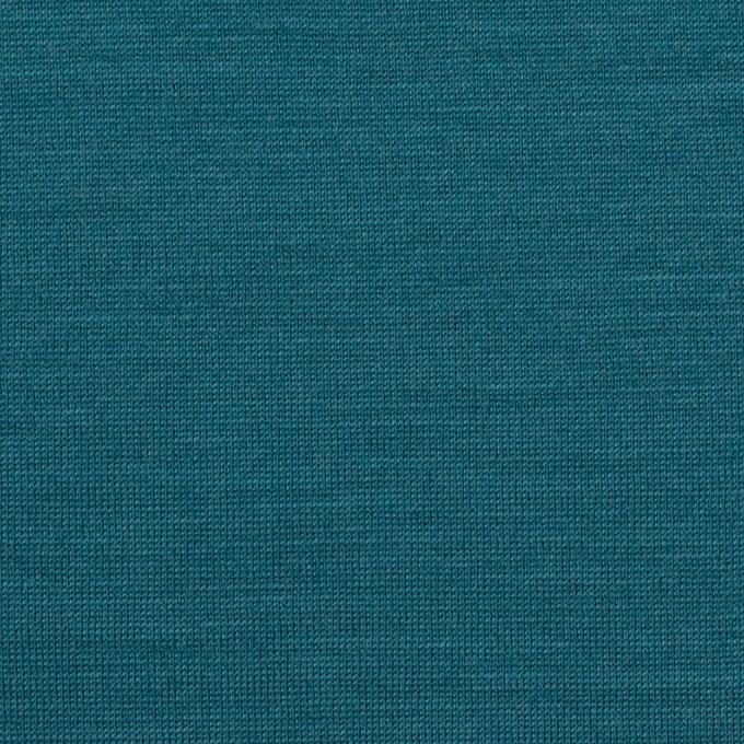 ウール×無地(ターコイズブルー)×天竺ニット イメージ1