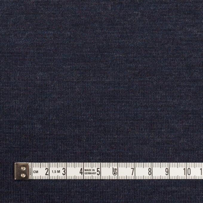 ウール×無地(ネイビー)×天竺ニット イメージ4