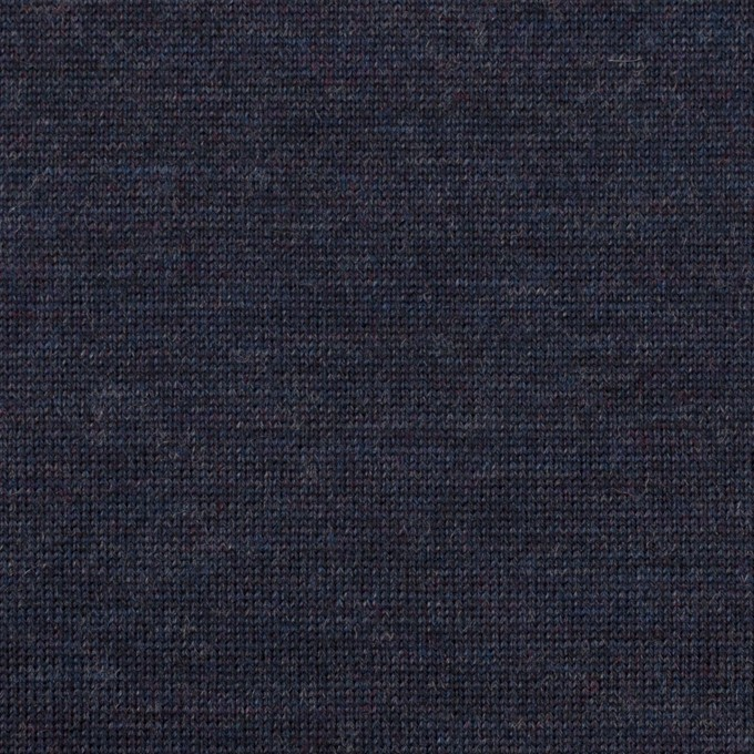 ウール×無地(ネイビー)×天竺ニット イメージ1