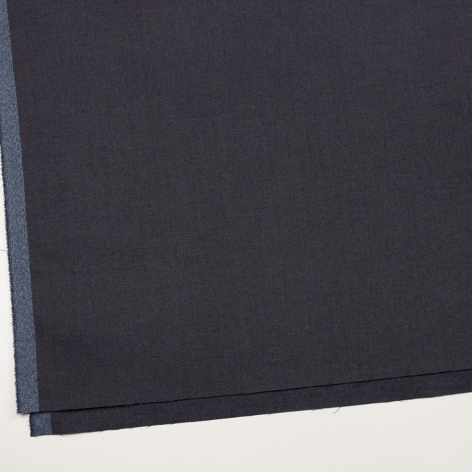 コットン&ポリウレタン×無地(アッシュネイビー)×ヘリンボーン_イタリア製 イメージ2