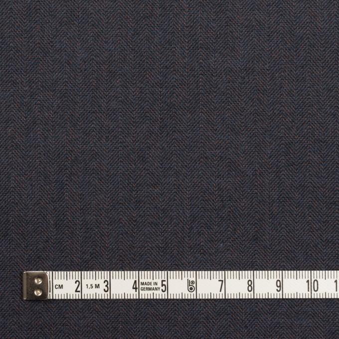 コットン&ポリウレタン×無地(アッシュネイビー)×ヘリンボーン_イタリア製 イメージ4