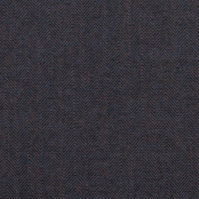 コットン&ポリウレタン×無地(アッシュネイビー)×ヘリンボーン_イタリア製 イメージ1
