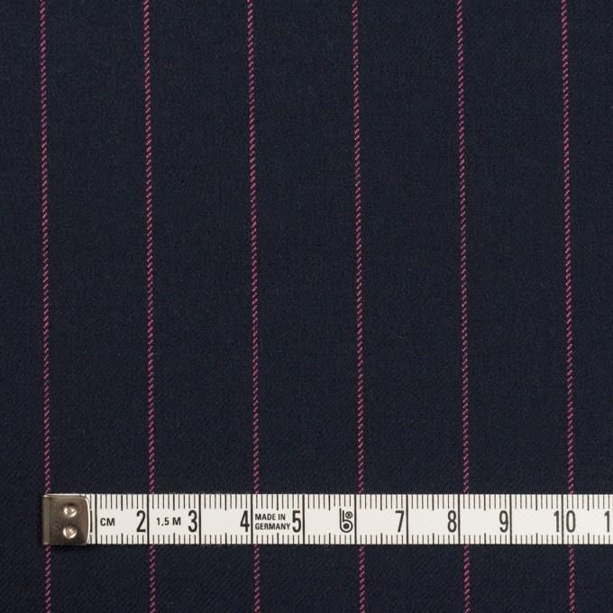 ポリエステル&レーヨン混×ストライプ(ダークネイビー&ピンク)×サージストレッチ イメージ4
