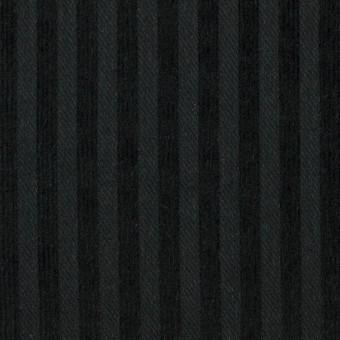 【110cmカット】コットン×ストライプ(ブラック)×ビエラジャガード