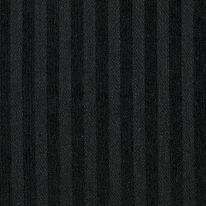 コットン×ストライプ(ブラック)×ビエラジャガード イメージ1
