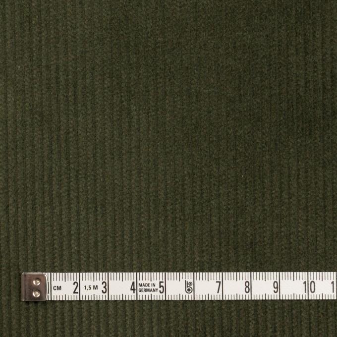 コットン&ポリウレタン×無地(ディープグリーン)×中コーデュロイ・ストレッチ イメージ4