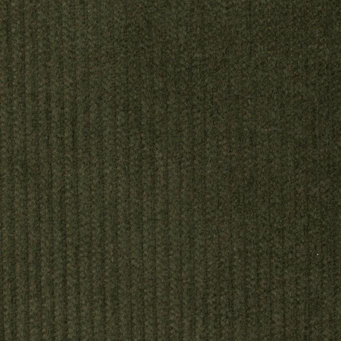 コットン&ポリウレタン×無地(ディープグリーン)×中コーデュロイ・ストレッチ イメージ1