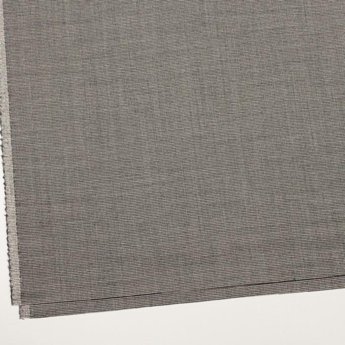 ウール&ポリウレタン×チェック(アイボリー&ブラック)×千鳥格子ストレッチ イメージ2