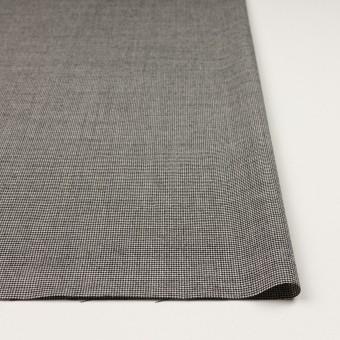 ウール&ポリウレタン×チェック(アイボリー&ブラック)×千鳥格子ストレッチ サムネイル3