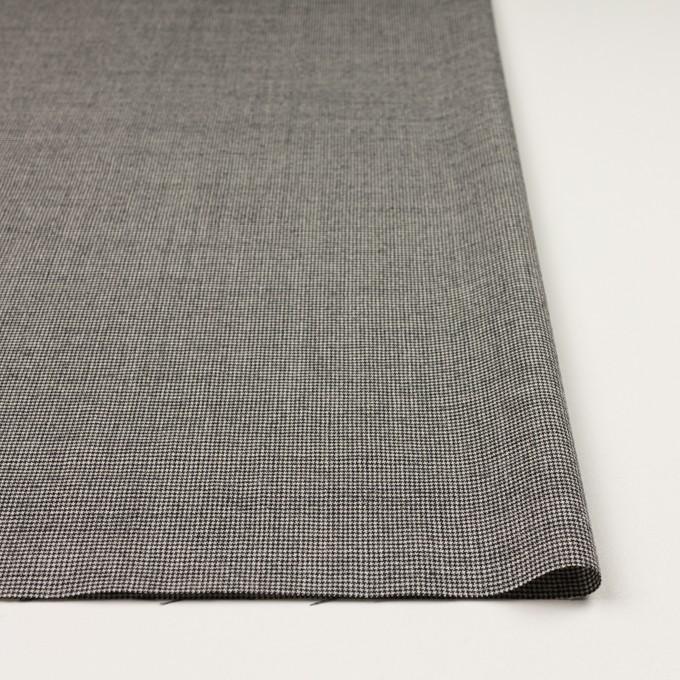 ウール&ポリウレタン×チェック(アイボリー&ブラック)×千鳥格子ストレッチ イメージ3