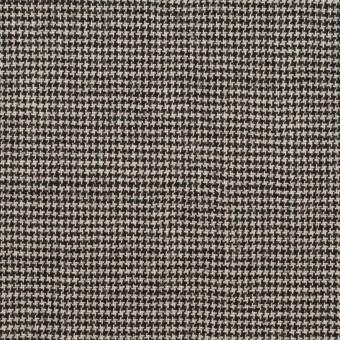 ウール&ポリウレタン×チェック(アイボリー&ブラック)×千鳥格子ストレッチ サムネイル1