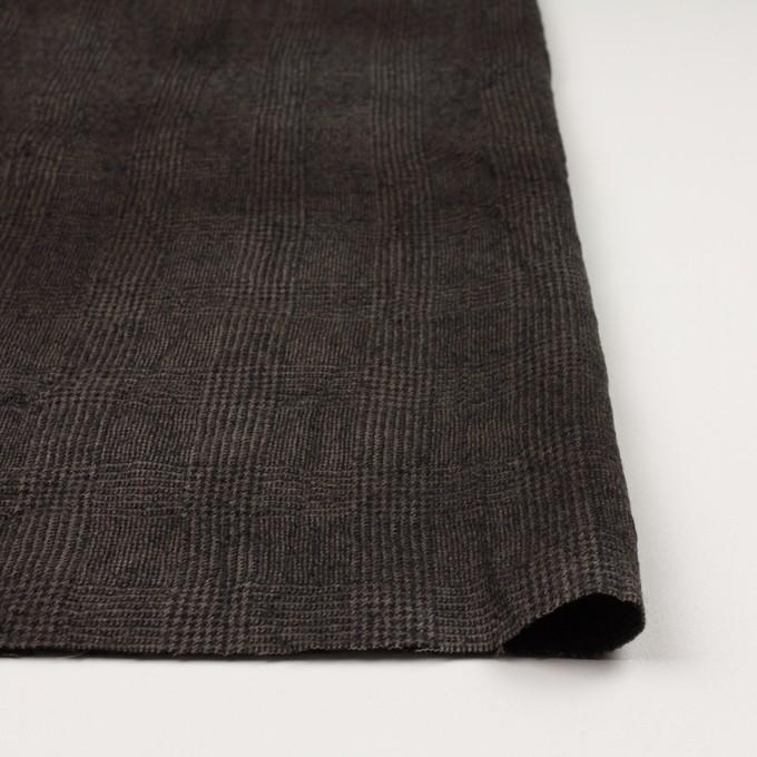 ウール×チェック(カーキ&ブラック)×ツイードワッシャー イメージ3