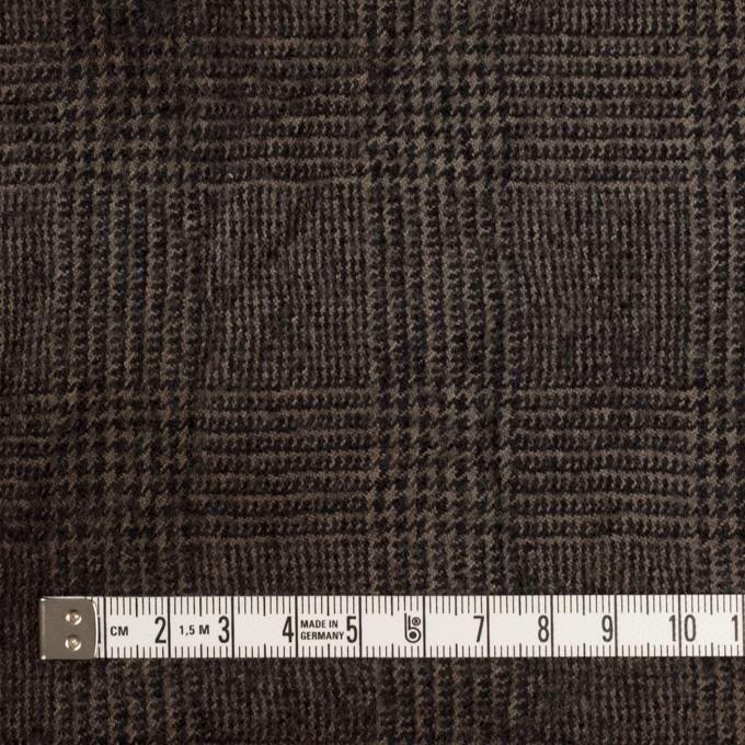 ウール×チェック(カーキ&ブラック)×ツイードワッシャー イメージ4