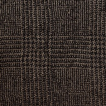ウール×チェック(カーキ&ブラック)×ツイードワッシャー