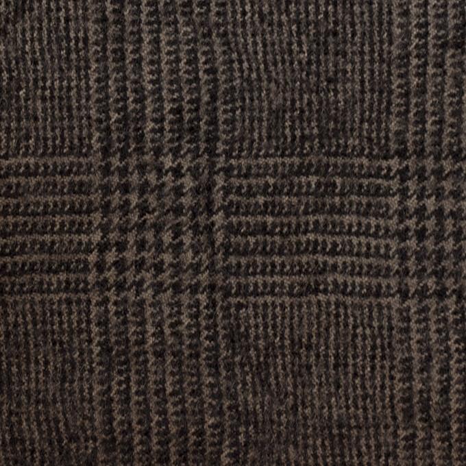 ウール×チェック(カーキ&ブラック)×ツイードワッシャー イメージ1