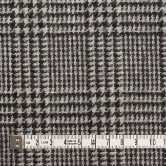 ウール&アクリル混×チェック(アイボリー&ブラック)×ツイード サムネイル4