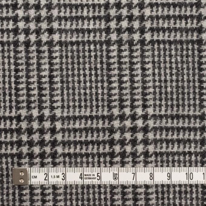 ウール&アクリル混×チェック(アイボリー&ブラック)×ツイード イメージ4