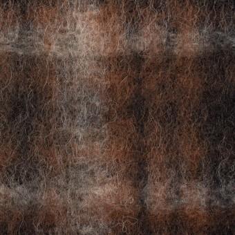 ウール&ポリエステル×チェック(ブラウン&ブラック)×フリースニット