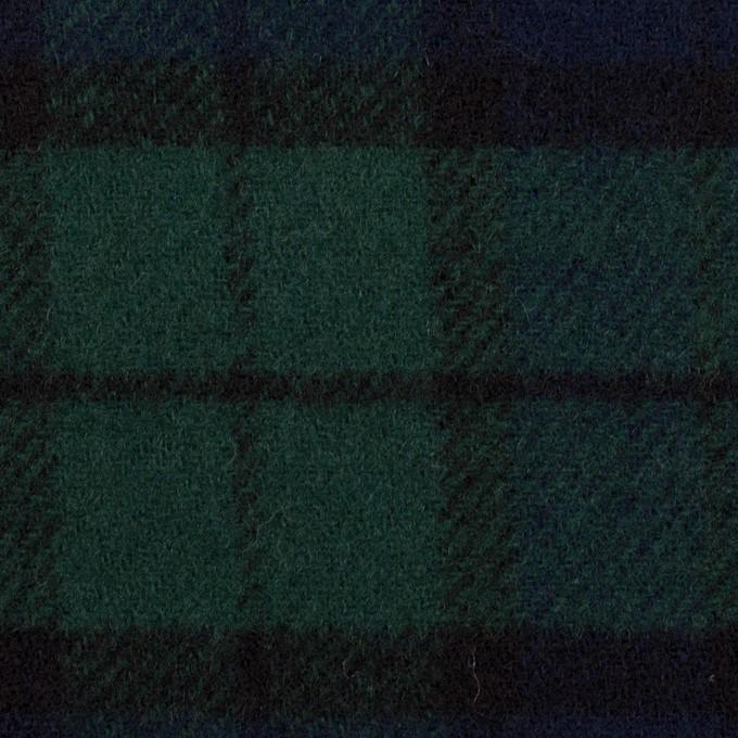 ウール×チェック&無地(ブラックウォッチ&ダークネイビー)×カルゼ&フラノ(Wフェイス) イメージ1