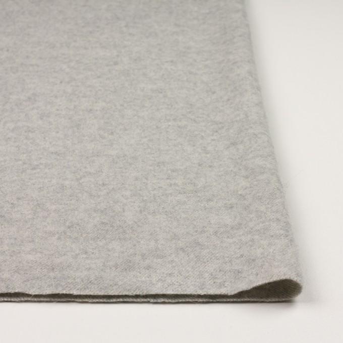 ウール×無地(ライトグレー)×ガーゼ イメージ3