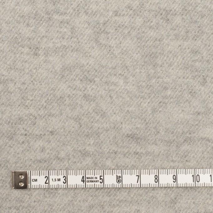 ウール×無地(ライトグレー)×ガーゼ イメージ4