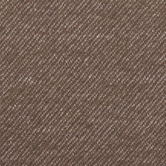 ウール&コットン×ミックス(アッシュブラウン)×圧縮ニット イメージ1
