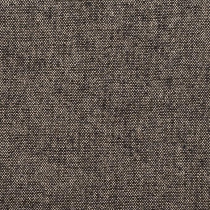 ウール&ポリエステル混×ミックス(エクリュ&ブラック)×ツイードストレッチ イメージ1
