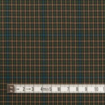 コットン×チェック(グリーン、ブルー&ベージュ)×ビエラ サムネイル4