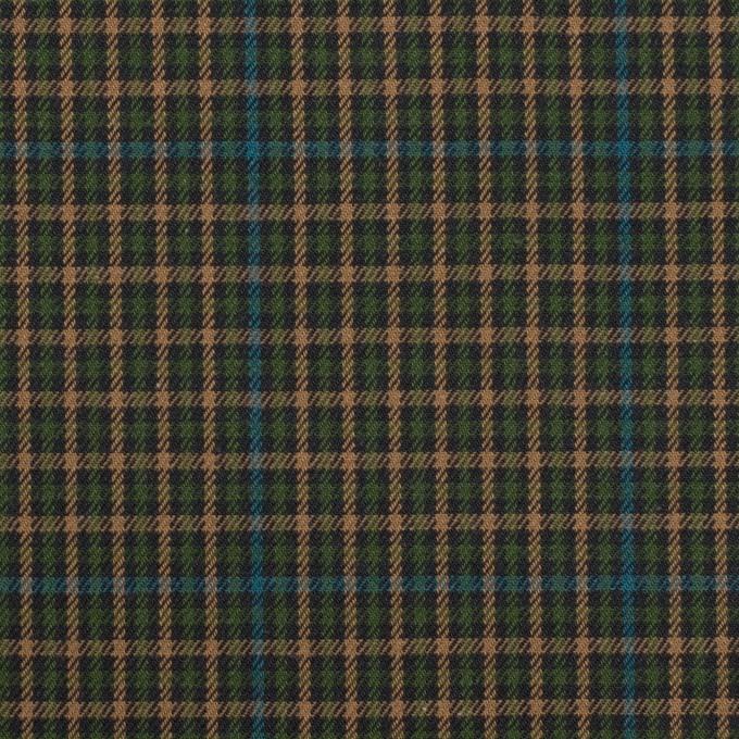 コットン×チェック(グリーン、ブルー&ベージュ)×ビエラ イメージ1