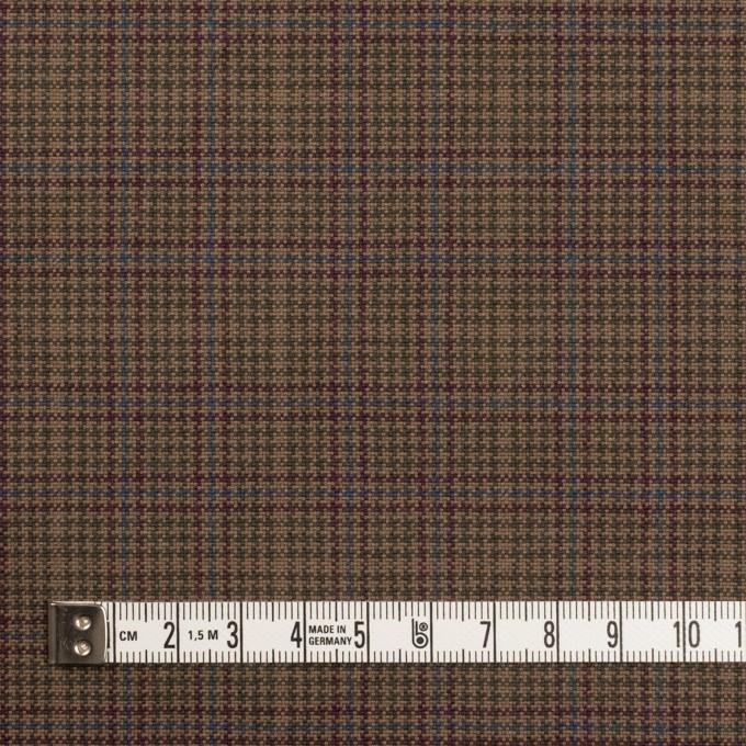 コットン×チェック(アッシュブラウン、ワイン&グリーン)×キャンバス・ワッシャー イメージ4