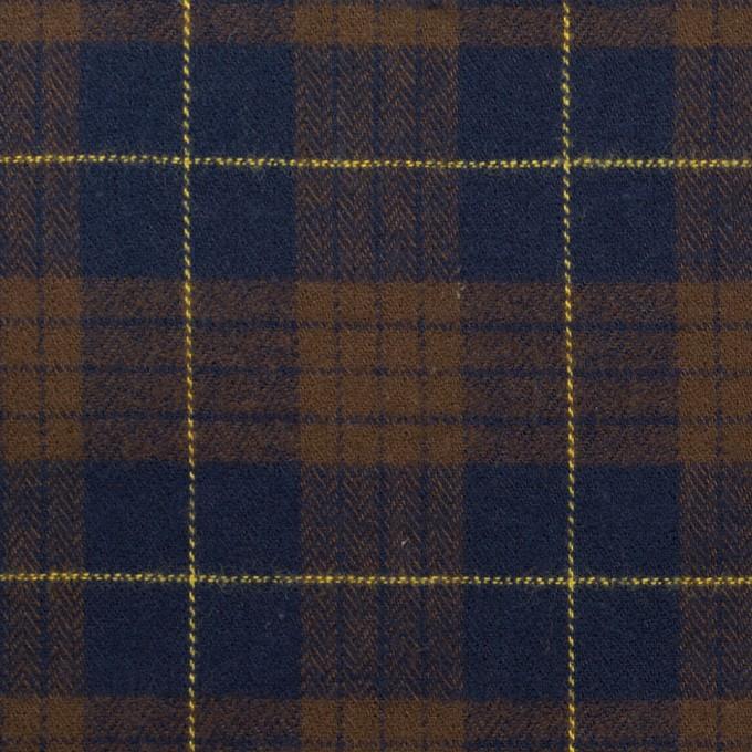 コットン×チェック(モカブラウン&ネイビー)×ヘリンボーン イメージ1