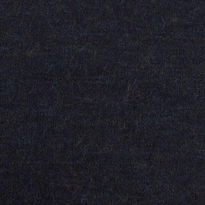 ウール×無地(ダークネイビー)×圧縮ニット イメージ1
