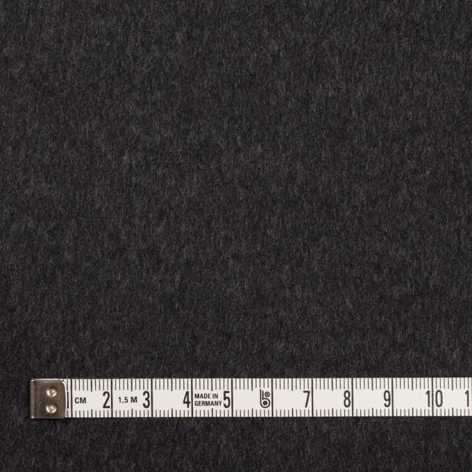 ウール×無地(チャコール)×ビーバー イメージ4
