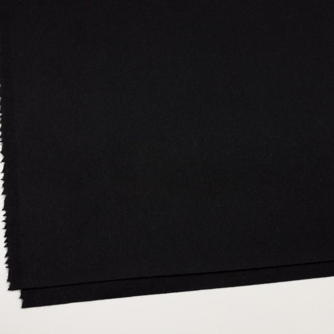 ウール&カシミア×無地(ブラック)×ソフトメルトン イメージ2