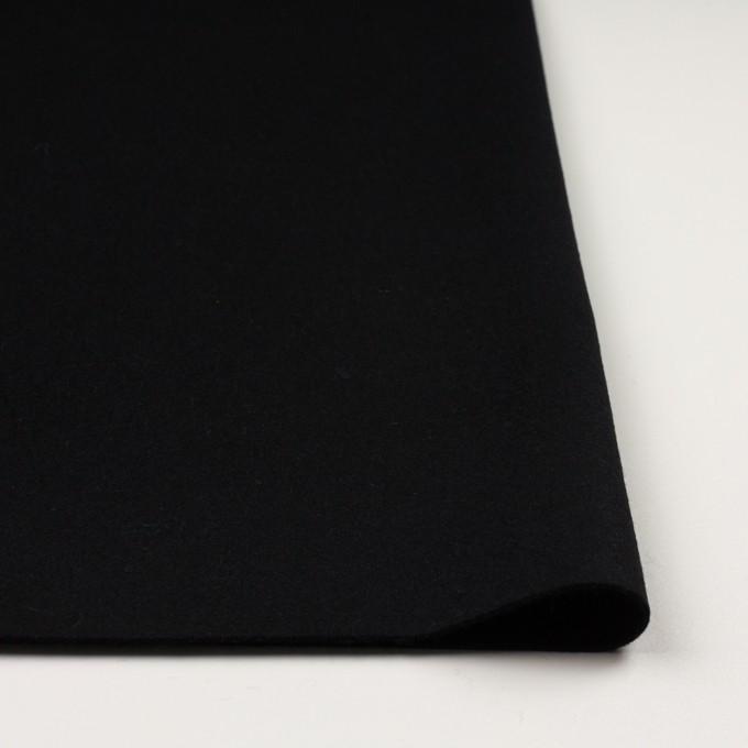 ウール&カシミア×無地(ブラック)×ソフトメルトン イメージ3
