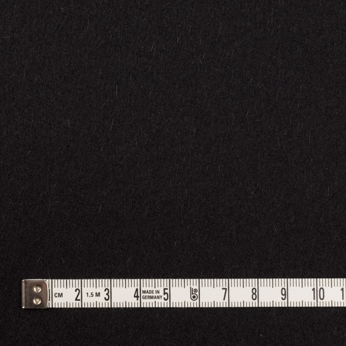 ウール&カシミア×無地(ブラック)×ソフトメルトン イメージ4