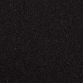 ウール&カシミア×無地(ブラック)×ソフトメルトン