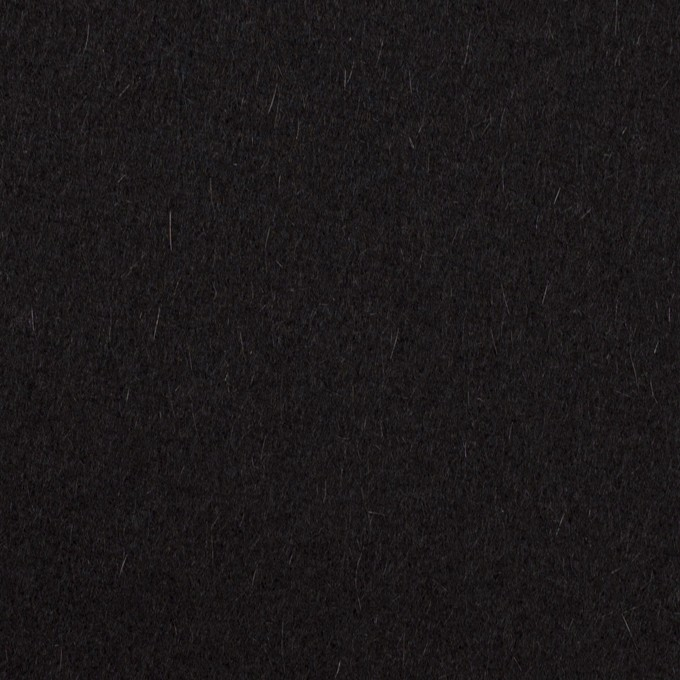 ウール&カシミア×無地(ブラック)×ソフトメルトン イメージ1