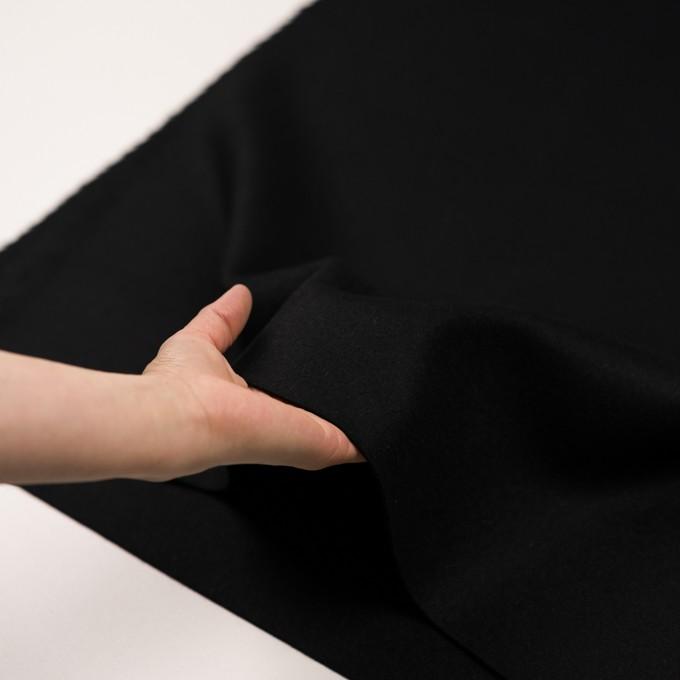 ウール&カシミア×無地(ブラック)×ソフトメルトン イメージ5