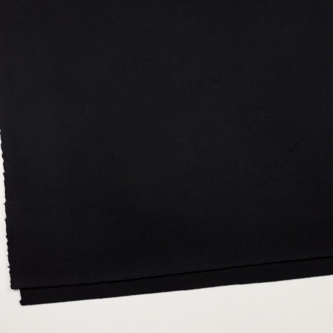 ウール×無地(ブラック)×Wフェイス・カルゼ イメージ2