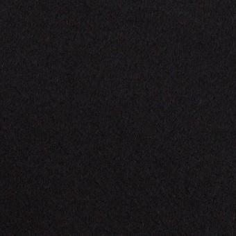 ウール×無地(ブラック)×Wフェイス・カルゼ