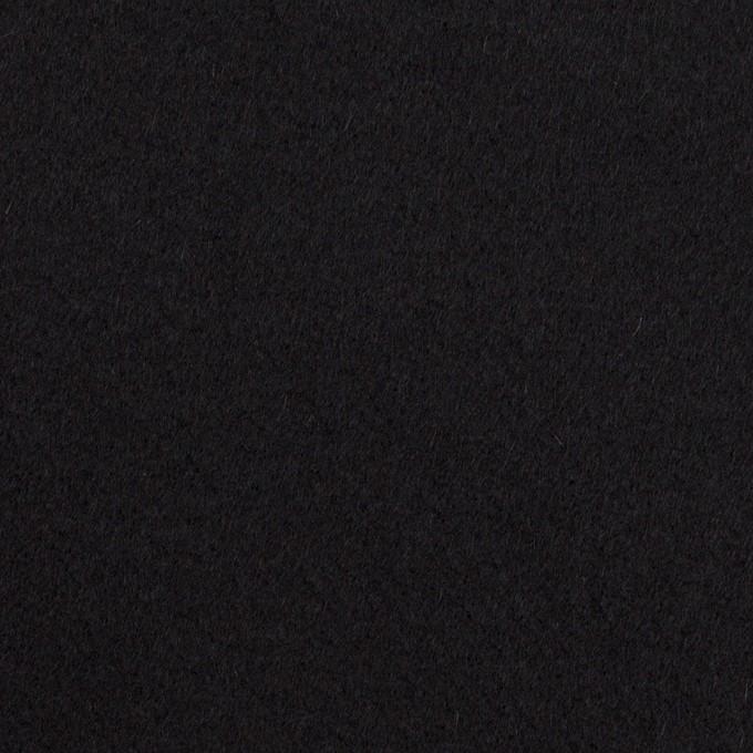 ウール×無地(ブラック)×Wフェイス・カルゼ イメージ1