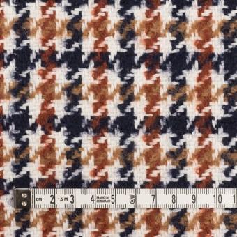 ウール&コットン混×千鳥格子(オークル、レンガ&ネイビー)×千鳥格子 サムネイル4