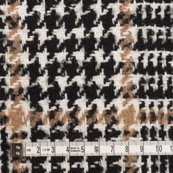 ウール&コットン混×チェック(ブラック&オークル)×ファンシーツイード サムネイル4