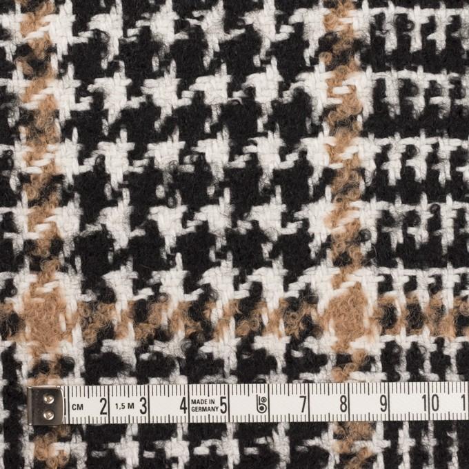 ウール&コットン混×チェック(ブラック&オークル)×ファンシーツイード イメージ4